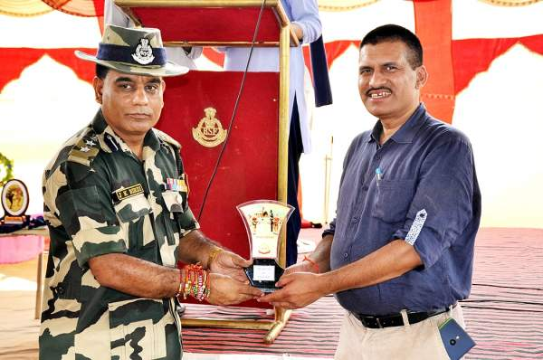 Awarded by B.S.F. on Wagha Border for boosting moral of our soldiers.